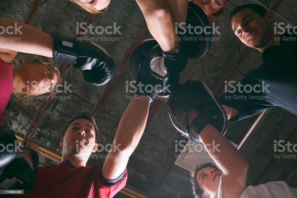 Boxing School - Team stock photo