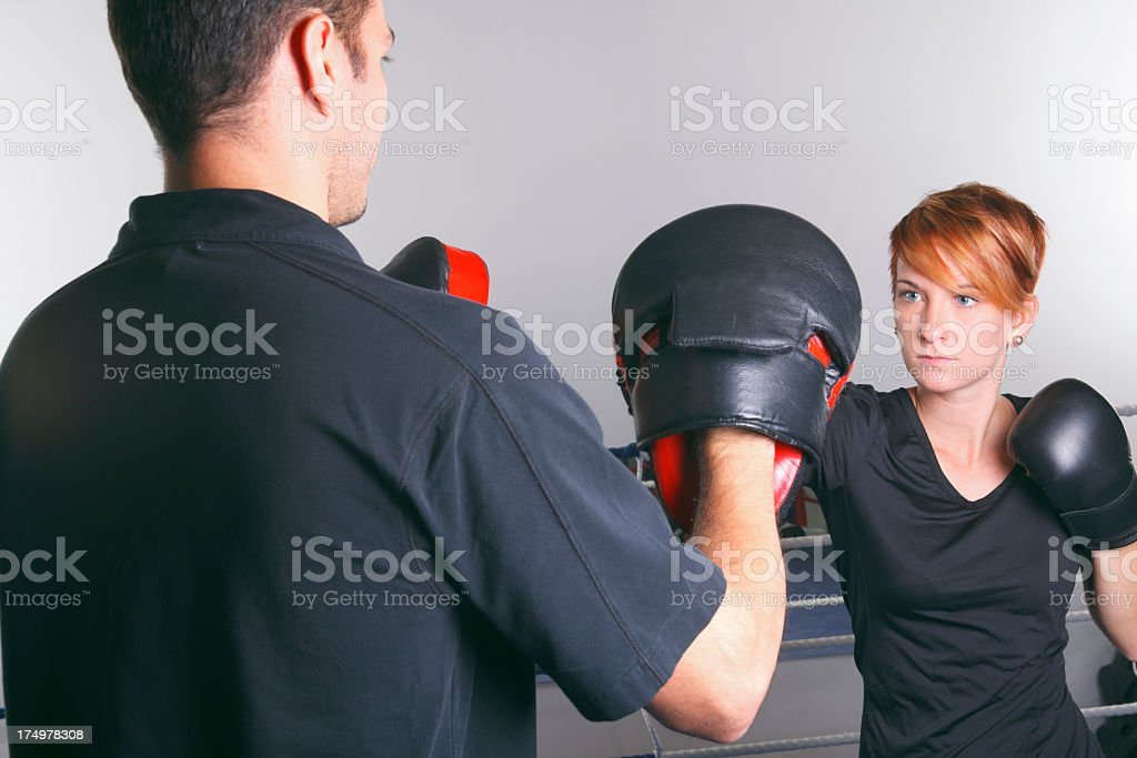 Boxing School - With Trainer stock photo