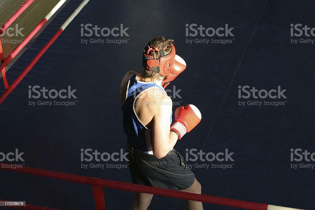 boxing training at ring royalty-free stock photo