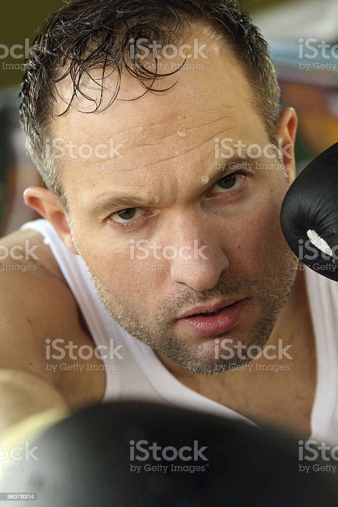 boxing training royalty-free stock photo