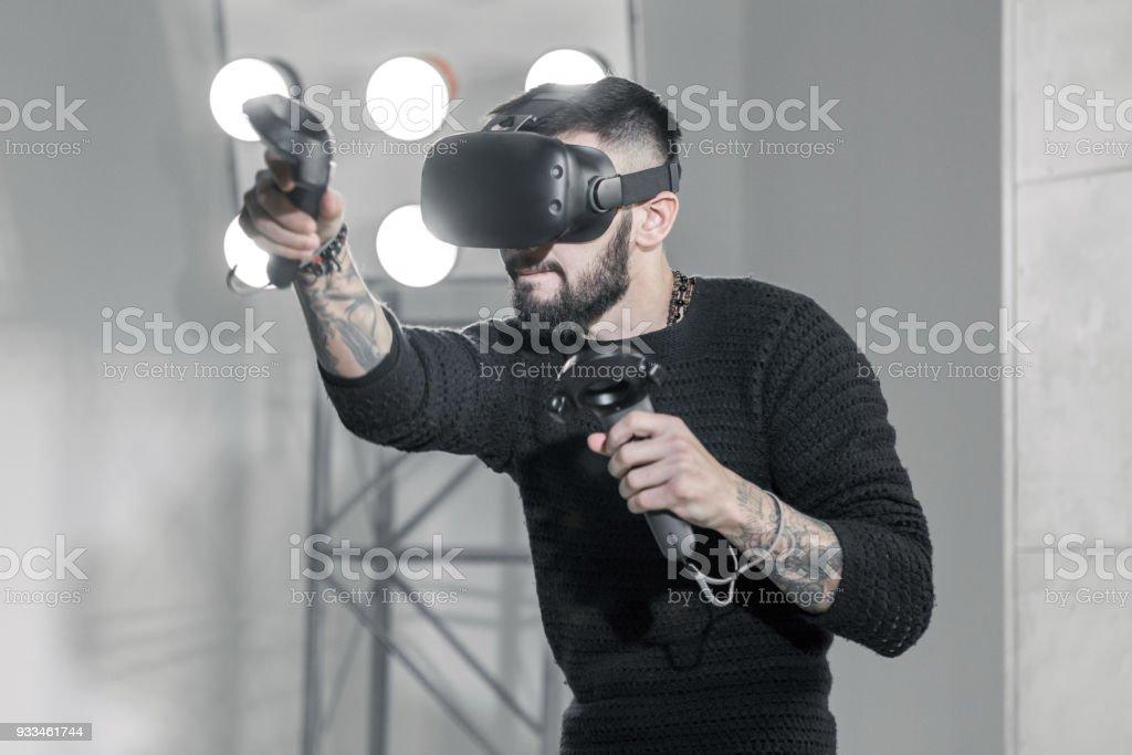 Boxing Virtual Simulator stock photo