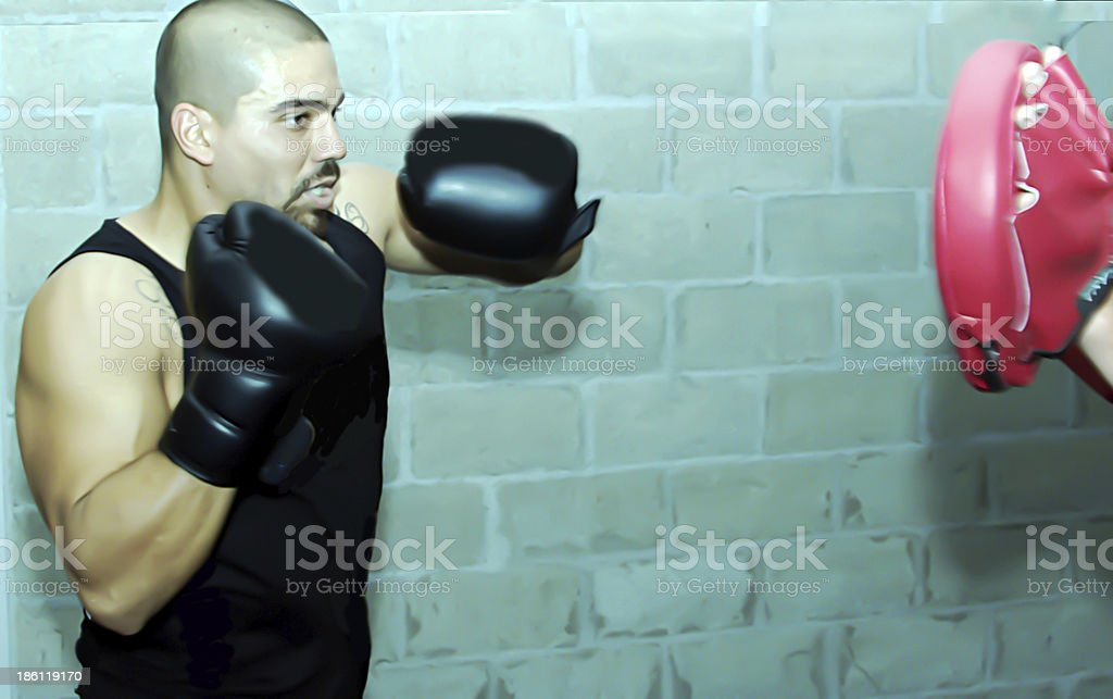 boxing workout royalty-free stock photo