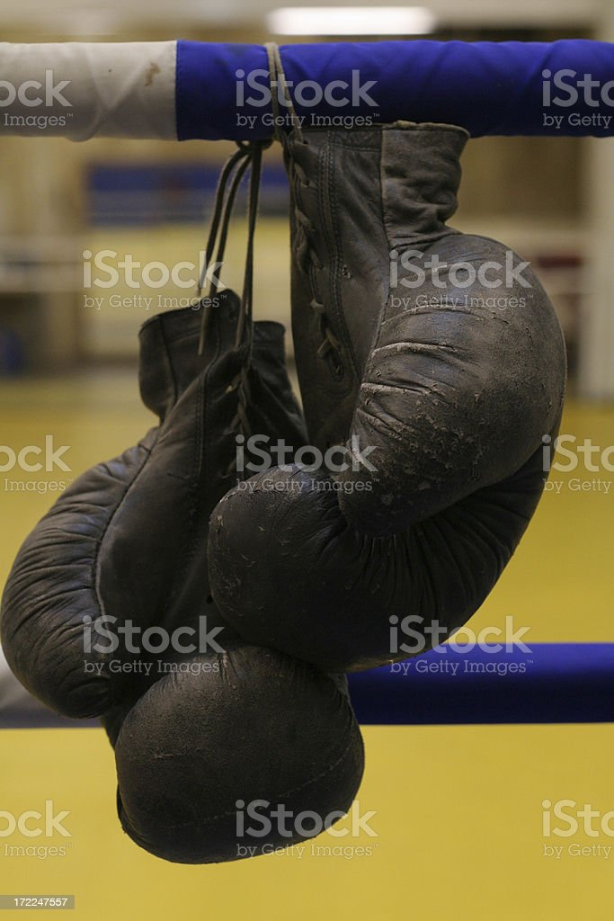boxing-glove on the ring royalty-free stock photo