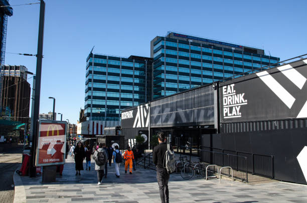 Boxpark, Croydon, South London stock photo