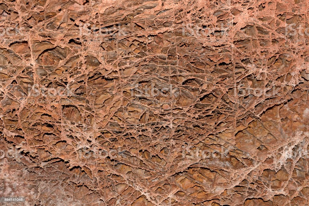Boxwork Formations in a Cave Ceiling stock photo