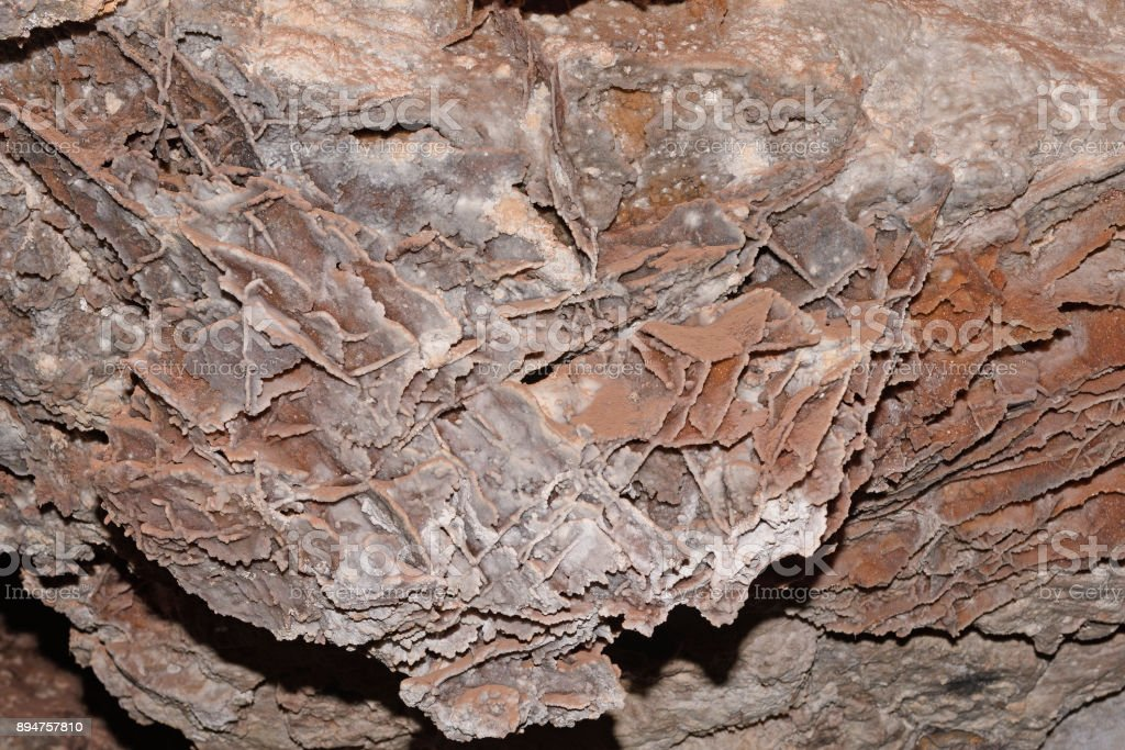 Boxwork Stalactite in Wind Cave stock photo