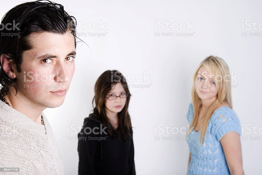 boy and 2 girls royalty-free stock photo