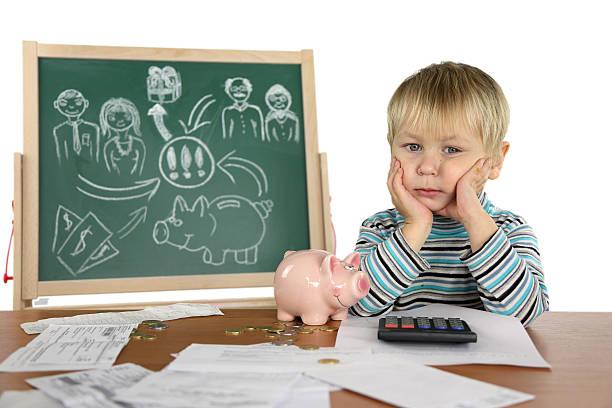 junge und business-plan - kindergeldantrag stock-fotos und bilder