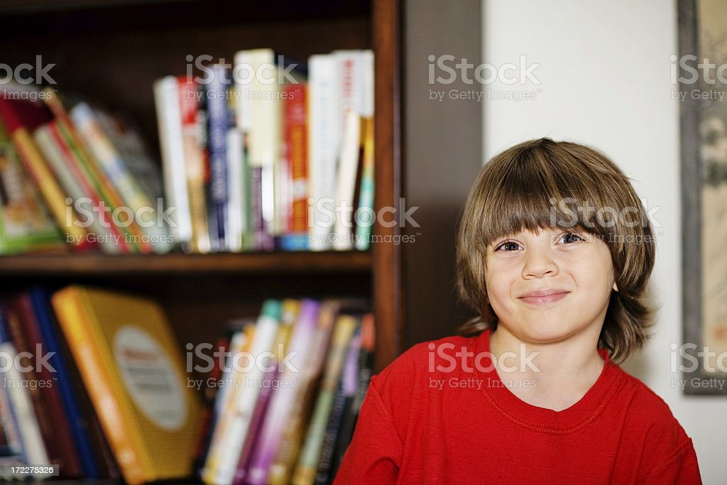 Boy And Books royalty-free stock photo