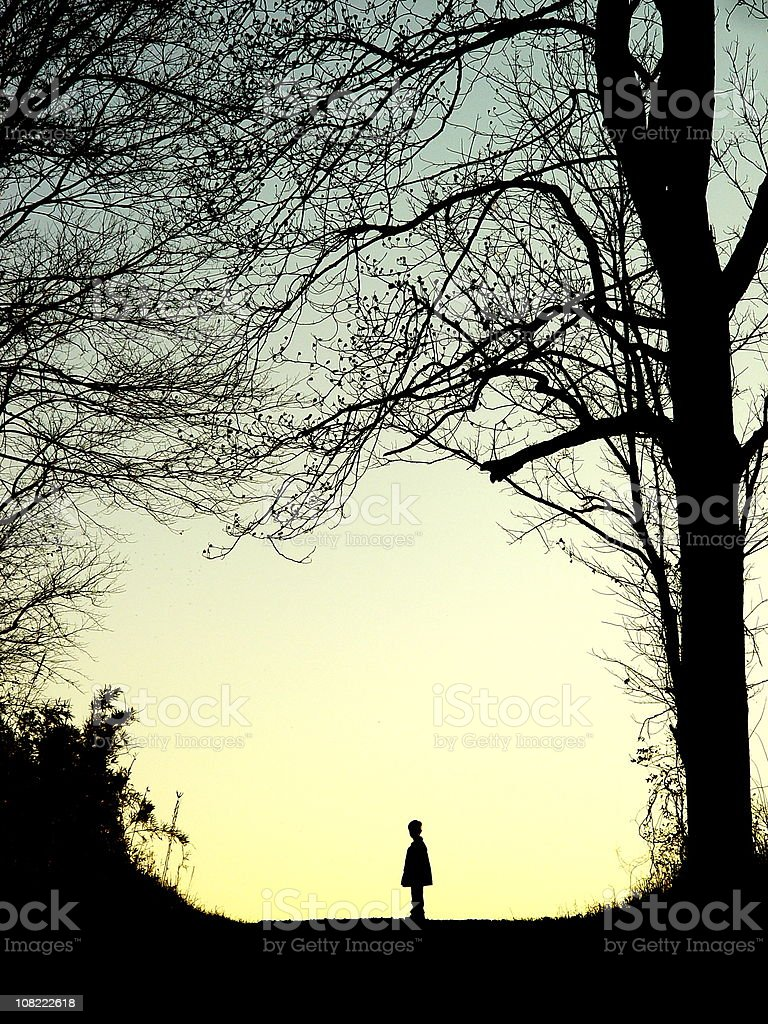 Boy and Cross royalty-free stock photo