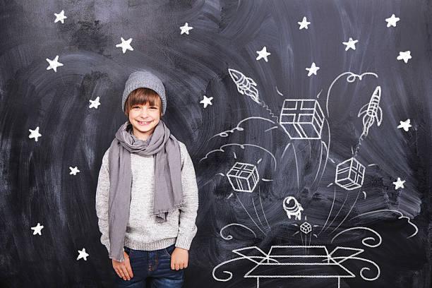 Junge und explosive box Geschenke – Foto