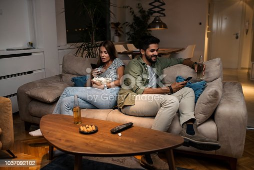 493656728 istock photo boy and girl are chatting online via smartphone 1037092102
