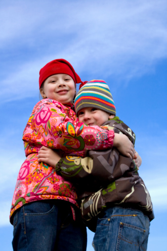 Boy And Girl Embrace Each Other Stock Photo - Download Image Now