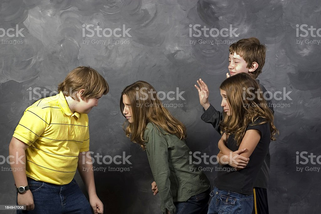 Boy and Girl Fighting royalty-free stock photo