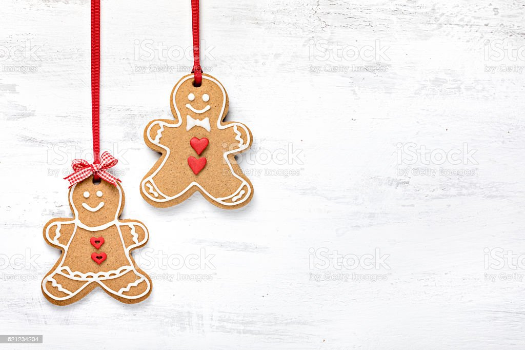 Boy and Girl Gingerbread Cookies stock photo