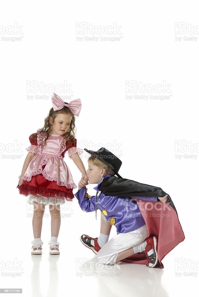 남자아이 및 소녀 attires 축제 royalty-free 스톡 사진