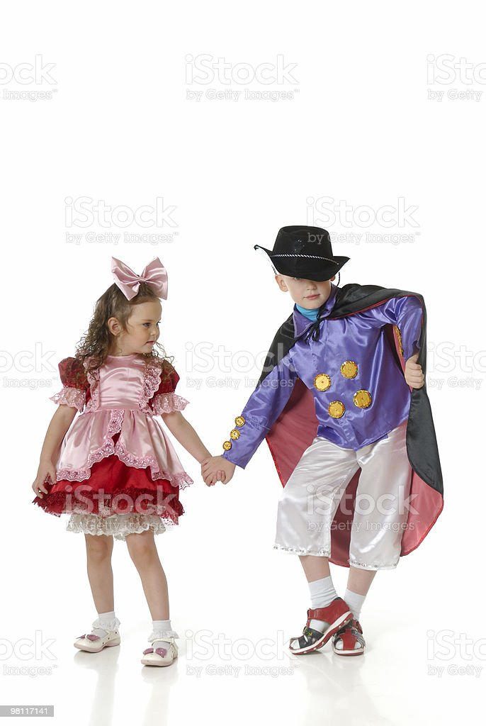 Ragazzo e ragazza in festa attires foto stock royalty-free