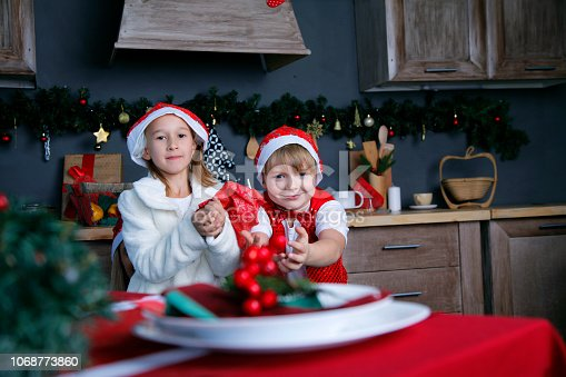 865399512 istock photo Boy and girl in new year 1068773860