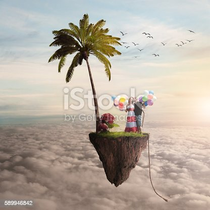 istock boy and girl on a flying island 589946842