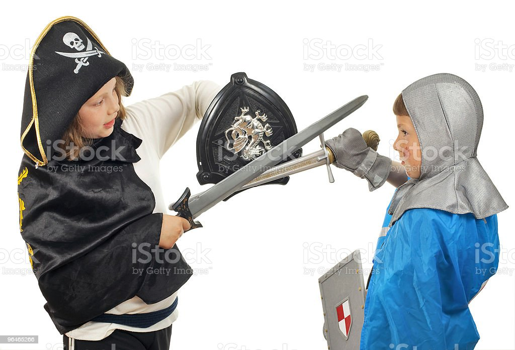 Boy and girl play royalty-free stock photo
