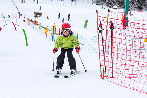 Boy and Girl Ski School