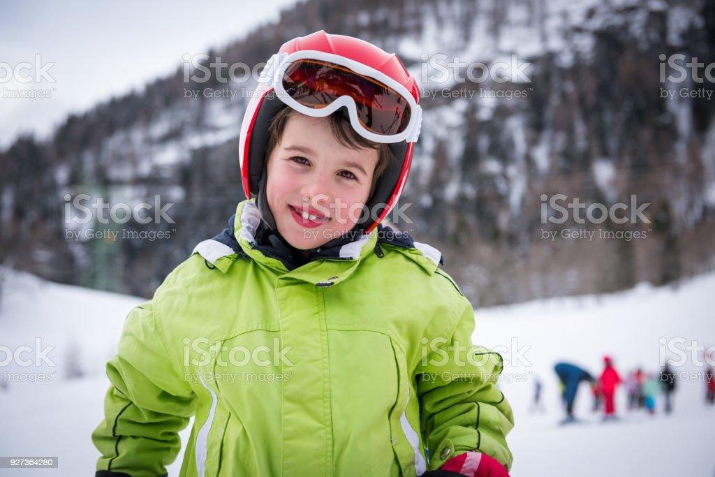 Boy and Girl Ski School - Royalty-free Adult Stock Photo