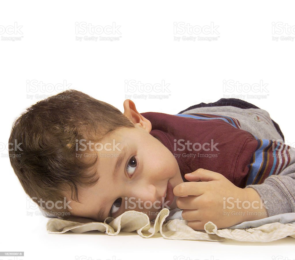 boy and his blanket royalty-free stock photo