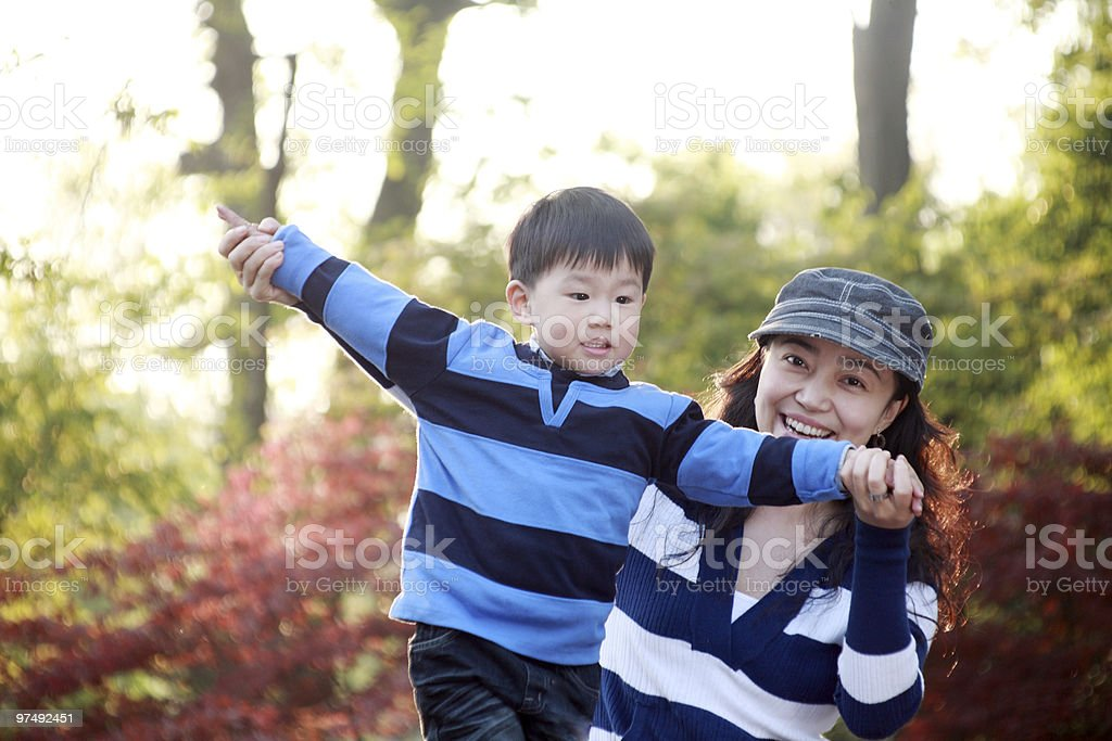 boy and mother royalty-free stock photo