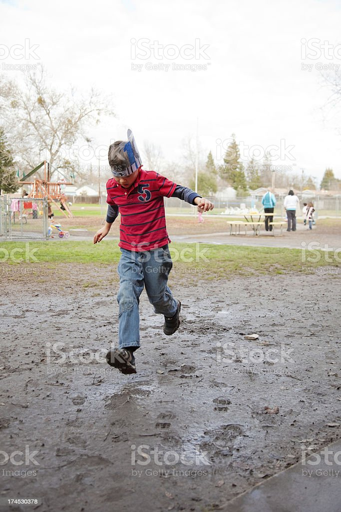 Boy And Mud royalty-free stock photo