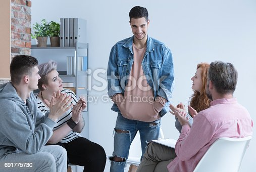 618070568 istock photo Boy and support group 691775730