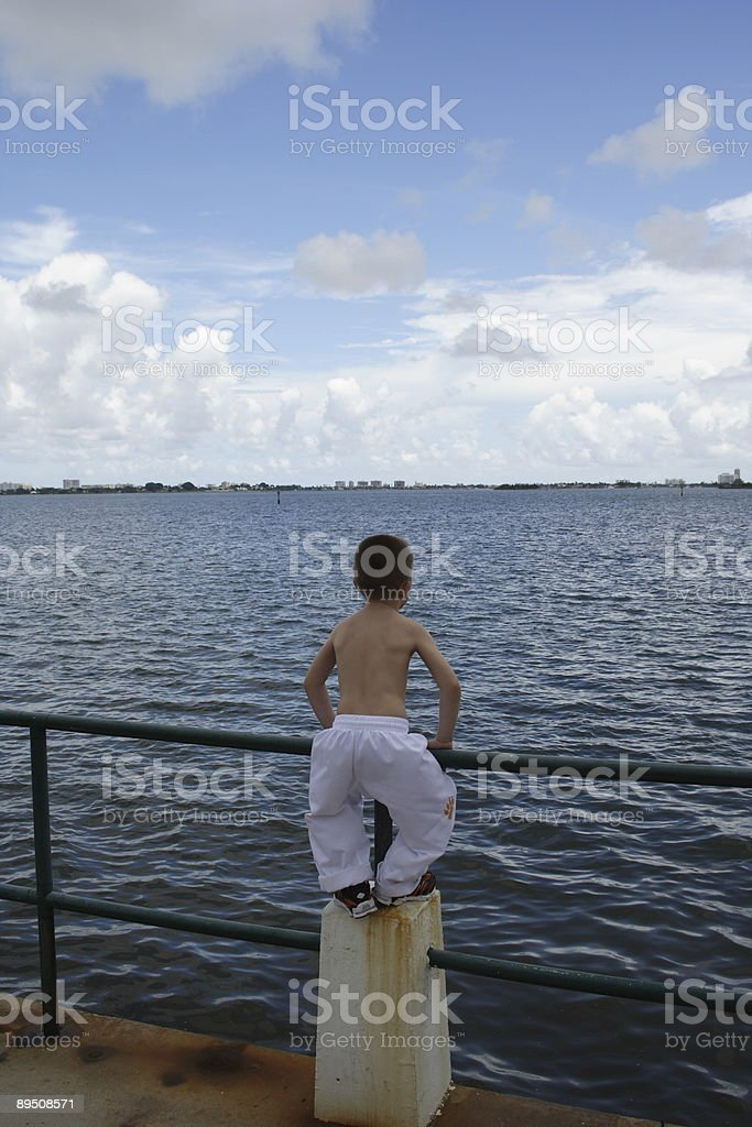 Boy and the Bay royalty-free stock photo
