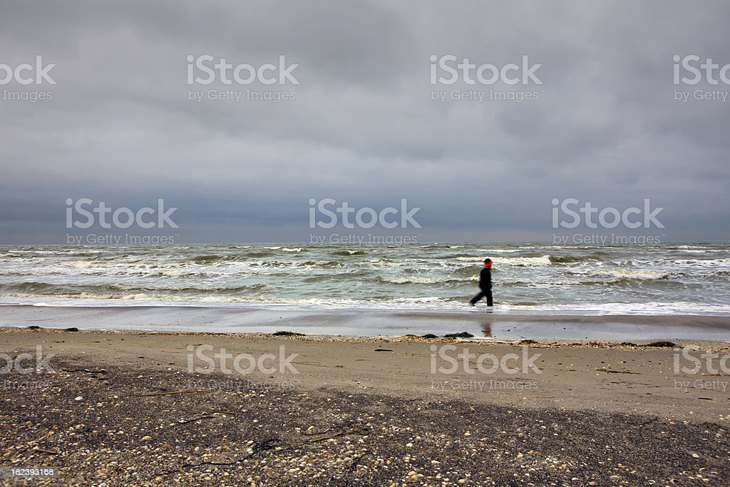 Boy and the ocean - HDR royalty-free stock photo
