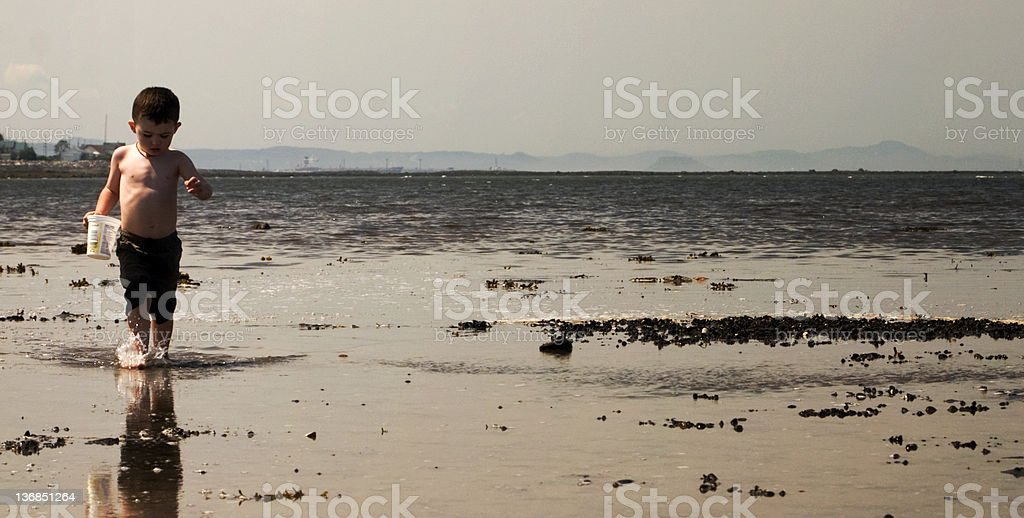 Boy and the sea. royalty-free stock photo