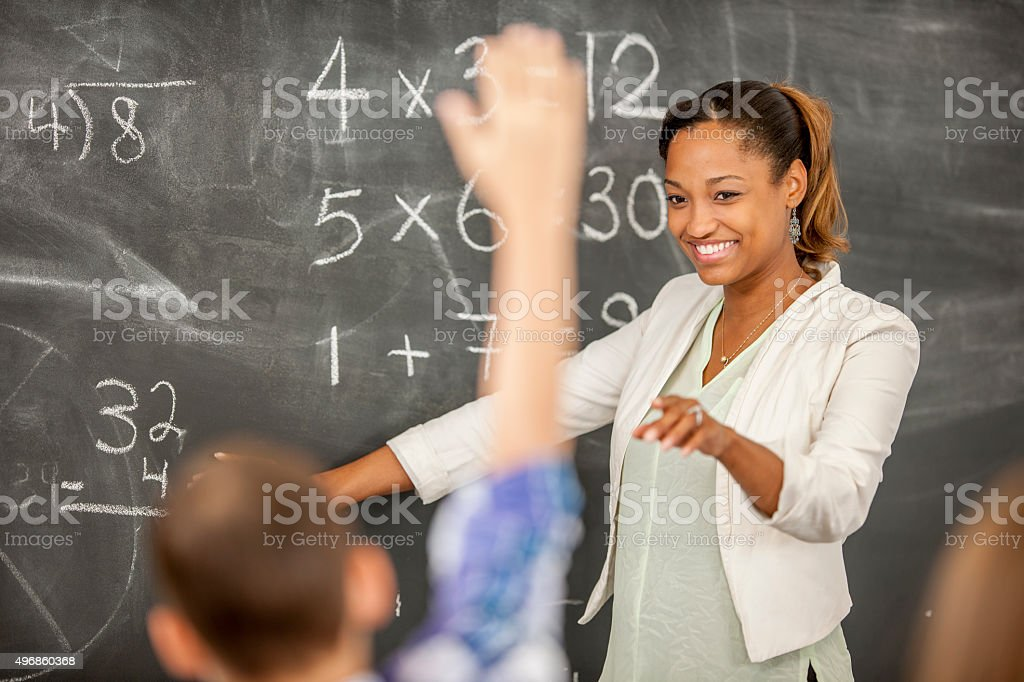 Boy Answering a Question stock photo