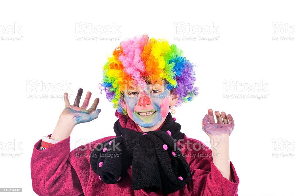 Boy as a funny-man royalty-free stock photo
