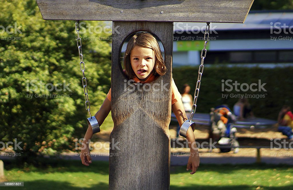 boy as jester stock photo
