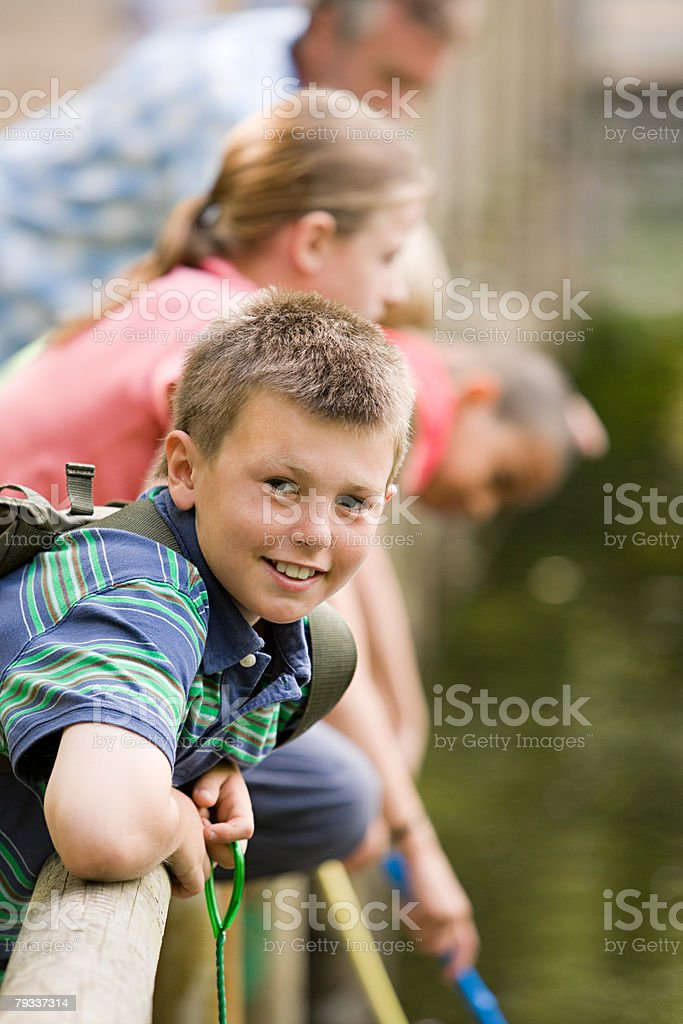 Boy at nature reserve royalty-free 스톡 사진
