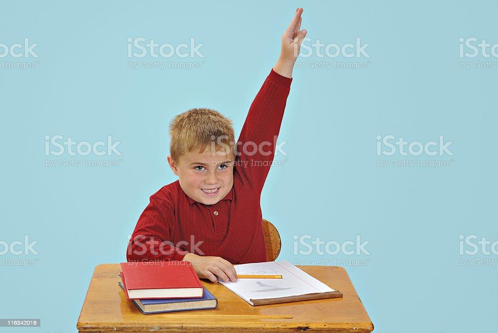 Boy at school royalty-free stock photo