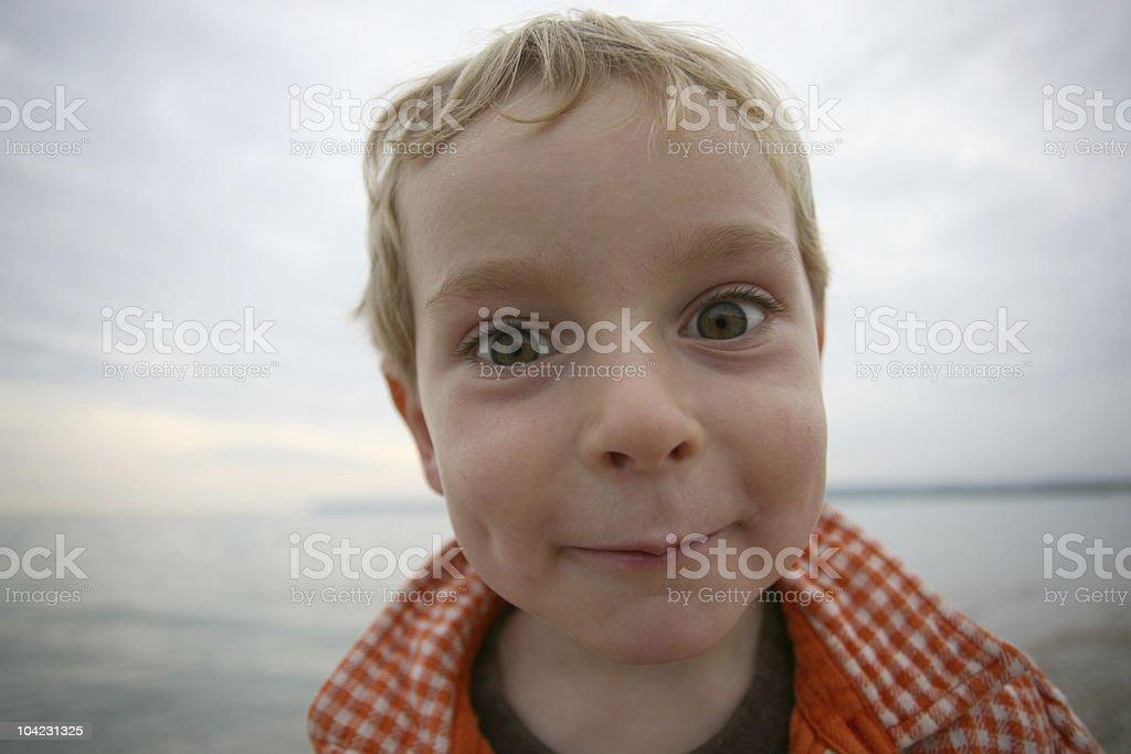Boy at the Beach royalty-free stock photo