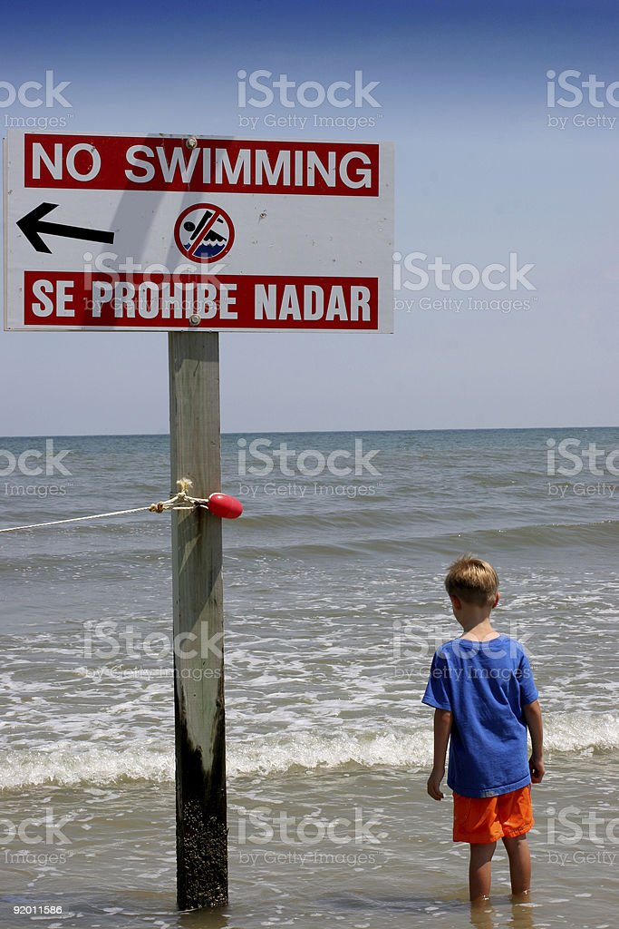 Boy at the beach royalty-free stock photo