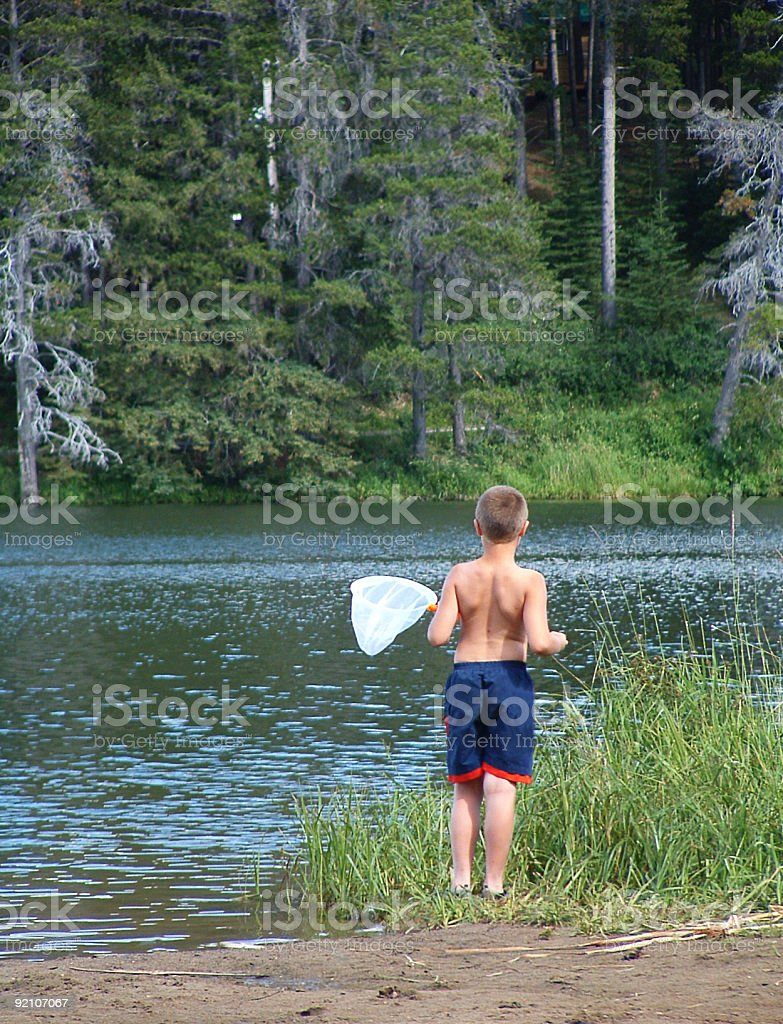Boy at the Lake royalty-free stock photo