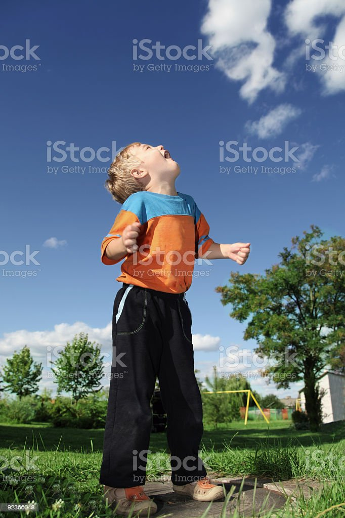 Boy at the playground royalty-free stock photo
