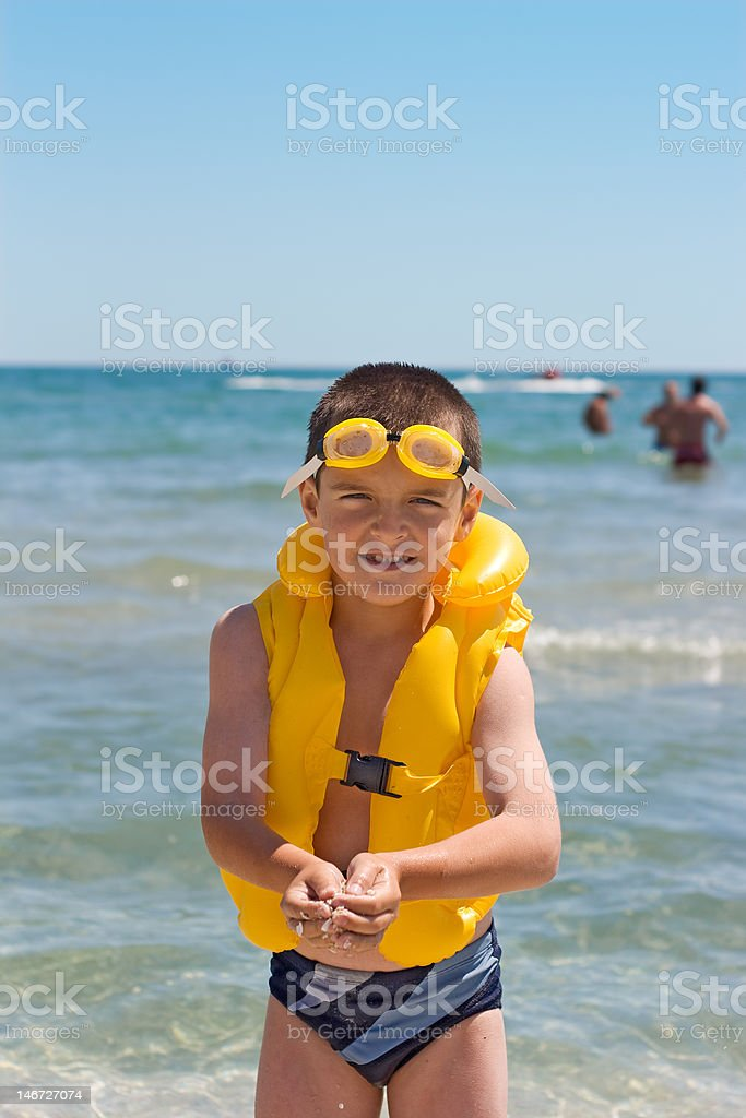 Boy at the sea royalty-free stock photo