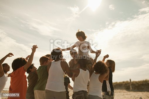 istock Boy being carried on shoulders 109433573
