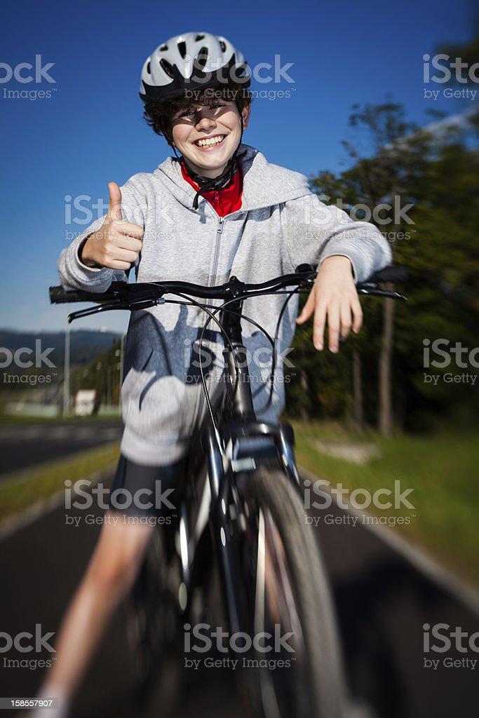 남자아이 자전거 royalty-free 스톡 사진