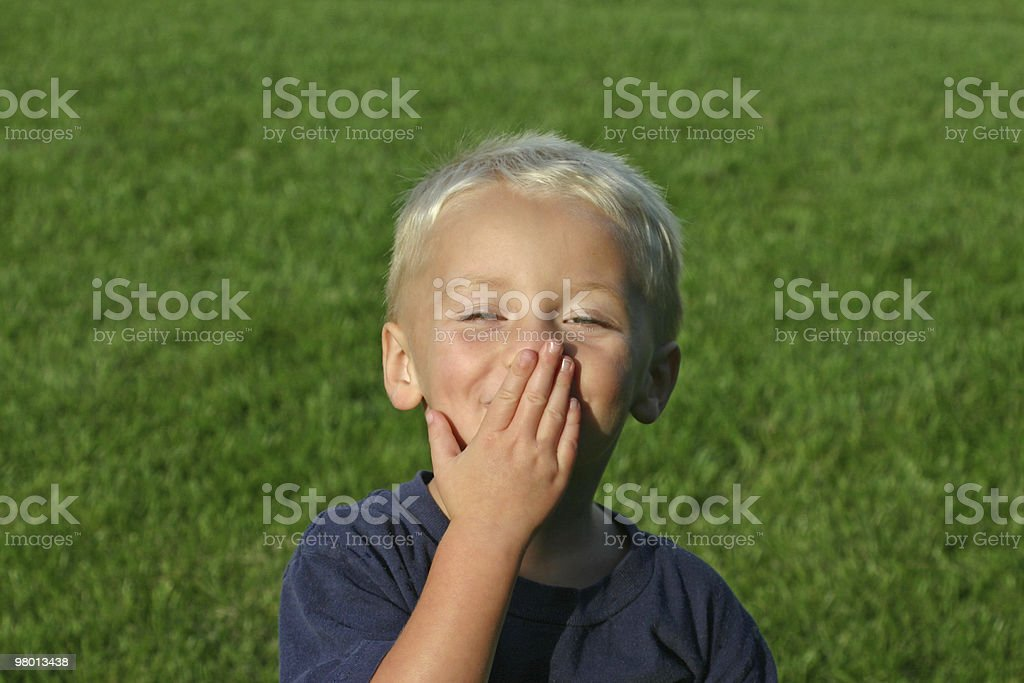 Boy Blowing Kiss royalty-free stock photo