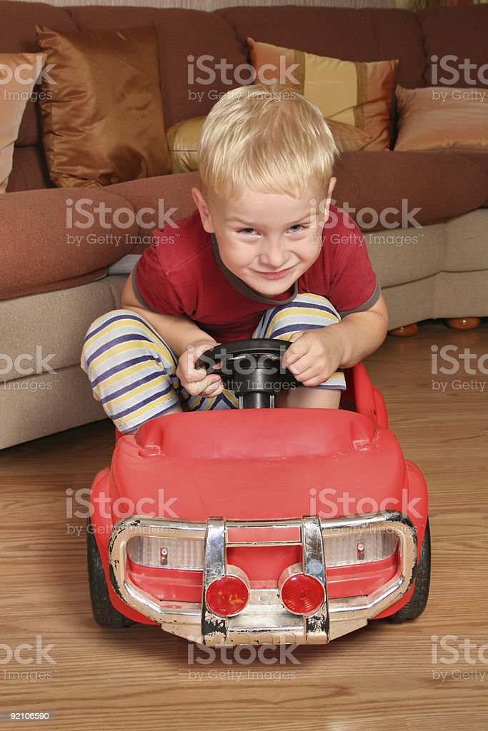 boy car toy royalty-free stock photo