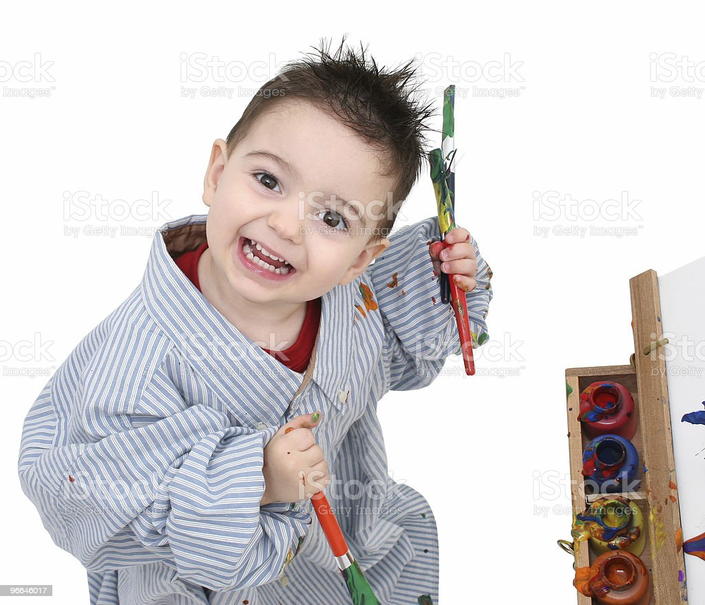 Boy Child Painting 05 royalty-free stock photo