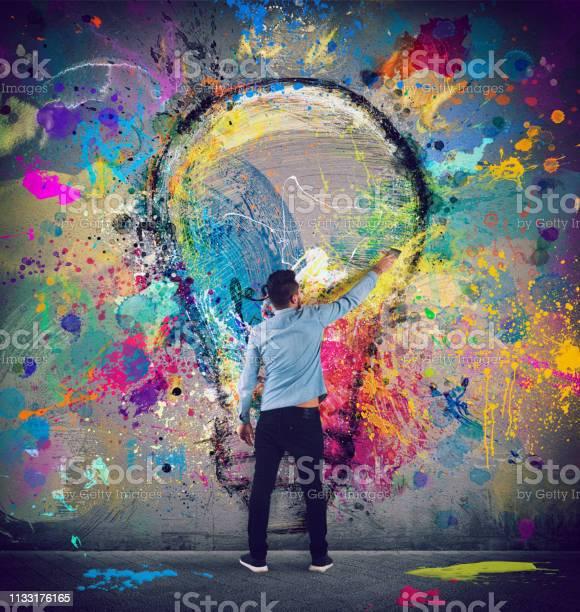 Boy draws with a brush a big light bulb concept of innovation and picture id1133176165?b=1&k=6&m=1133176165&s=612x612&h=rzccj5o0efbhgzvkadjptz2q8igrl1erzwrmxeyyxgc=