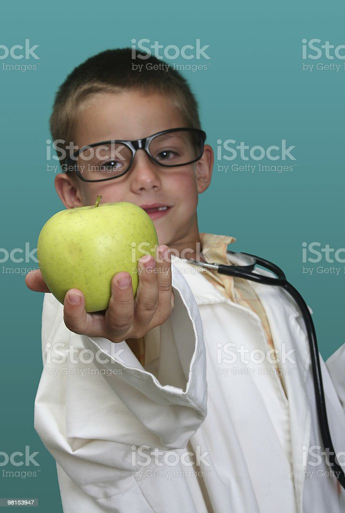 Boy dressed up as a doctor royalty-free stock photo